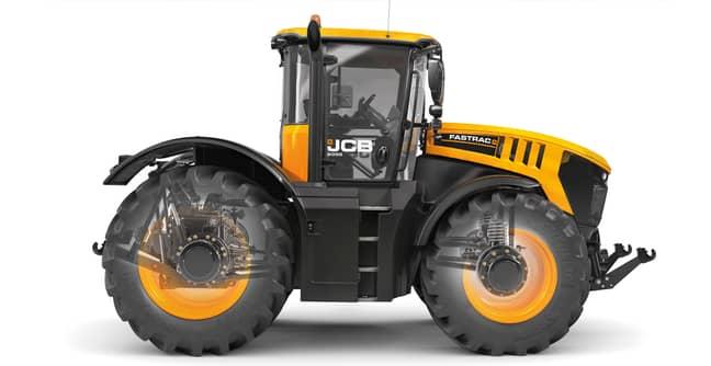 The JCB Fastrac 8000 Production Model. Credit: JCB