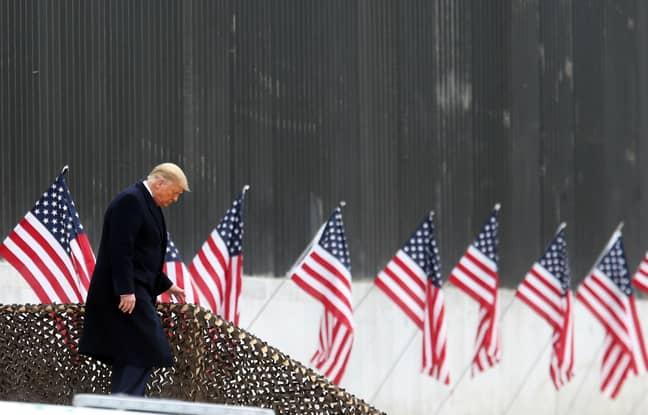 Trump will leave Washington before Joe Biden's inauguration on Wednesday. Credit: PA