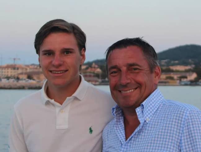 Oliver and his dad. Credit: Instagram/Oliver Daemen