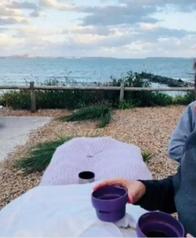 It was a tradition to take a thermos of tea down to the beach every day. Credit: Channel 9/Today Show