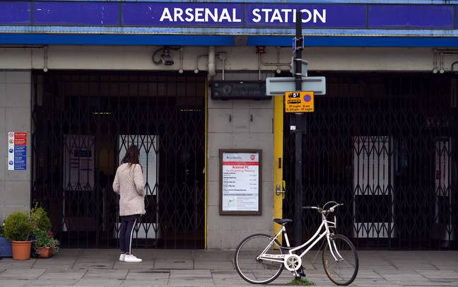 The closed Arsenal Underground Station near the Emirates Stadium. Credit: PA
