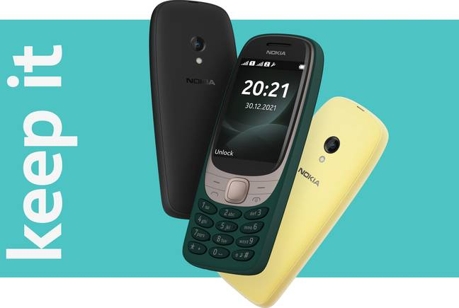 The new handset comes in three different colours. Credit: Nokia