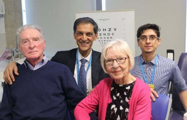 Patients taking part in the project to cure blindness. Credit: Twitter / Moorfields