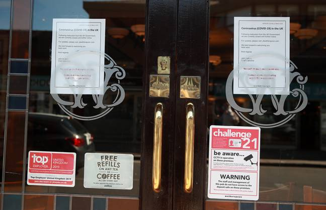 All Wetherspoon's pubs are currently closed due to coronavirus lockdown measures. Credit: PA