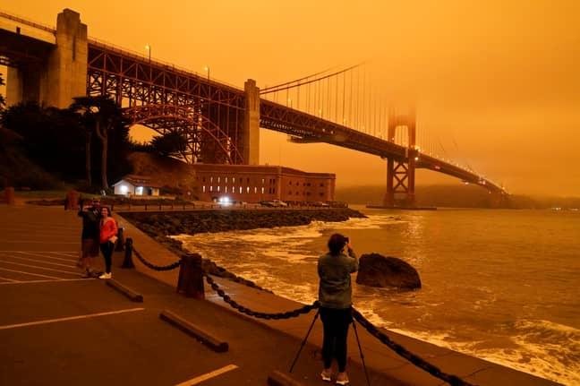 The Golden Gate Bridge, San Francisco. Credit: PA