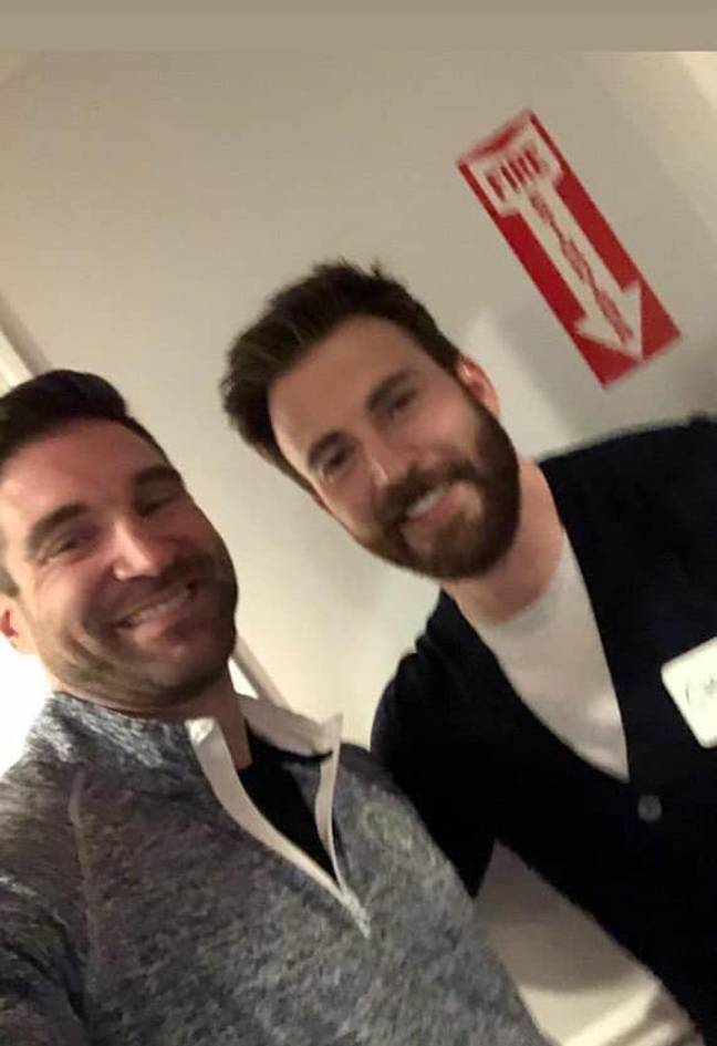 Christ Evans turned up at his 20th high school reunion. Credit: Everything Chris Evans/Facebook