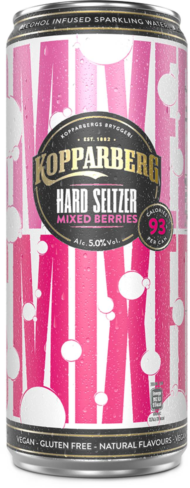 The cans will be available in three flavours. Credit: Kopparberg