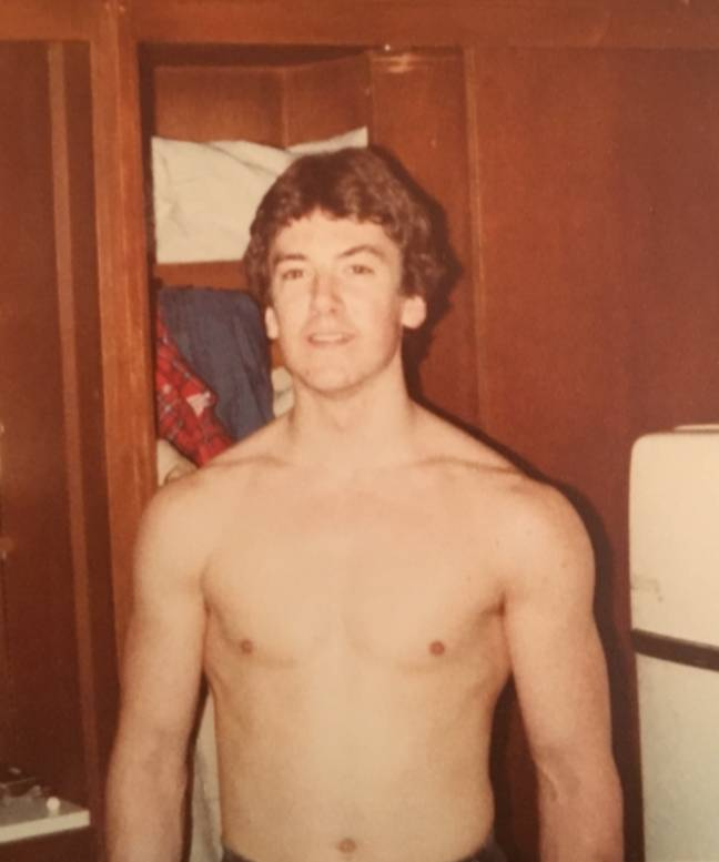 Clayton was into fitness while young, but was never very muscular. Credit: Media Drum World