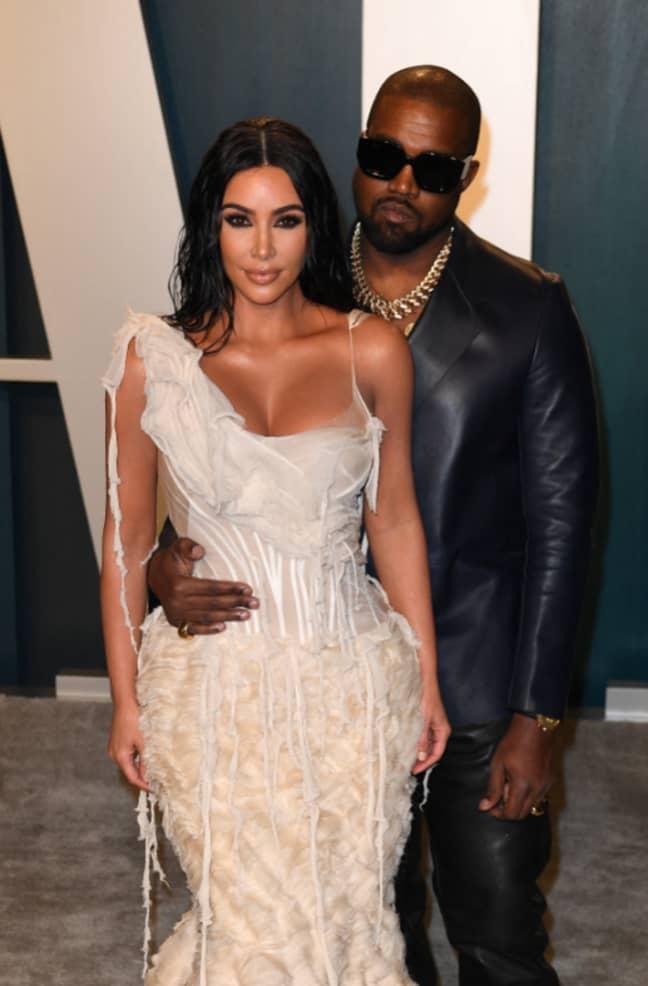 Kanye with wife Kim. Credit: PA