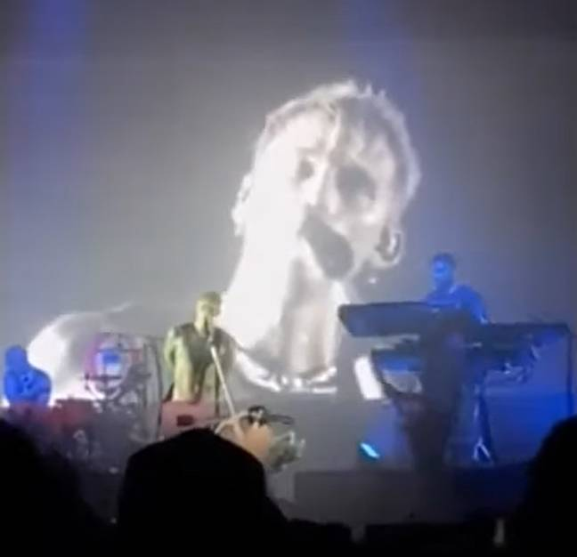 Machine Gun Kelly called out Slipknot on stage in Chicago. Credit: YouTube