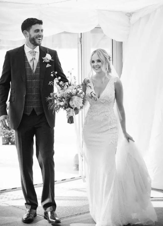 The couple had not been married very long when PC Harper was tragically killed. Credit: Thames Valley Police