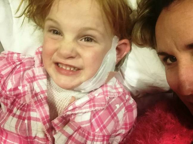 The little girl's mum says her daughter has made an 'amazing recovery' following the incident. Credit: SWNS