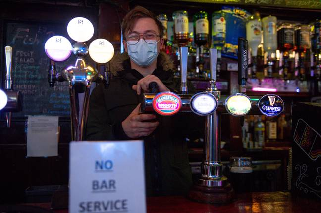 Service at bars has been banned since March 2020. Credit: PA