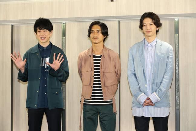 Japanese idol group Kanjani. Credit: PA