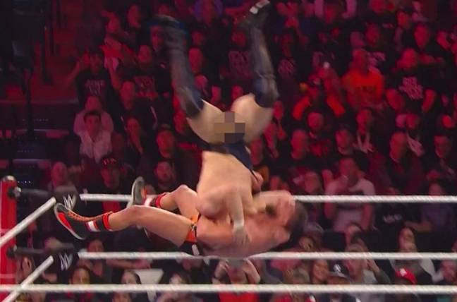 The balls up did not go unnoticed. Credit: WWE