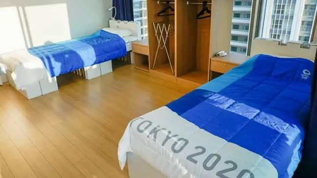 เตียงได้รับการออกแบบโดยคำนึงถึงความยั่งยืน เครดิต: IOC