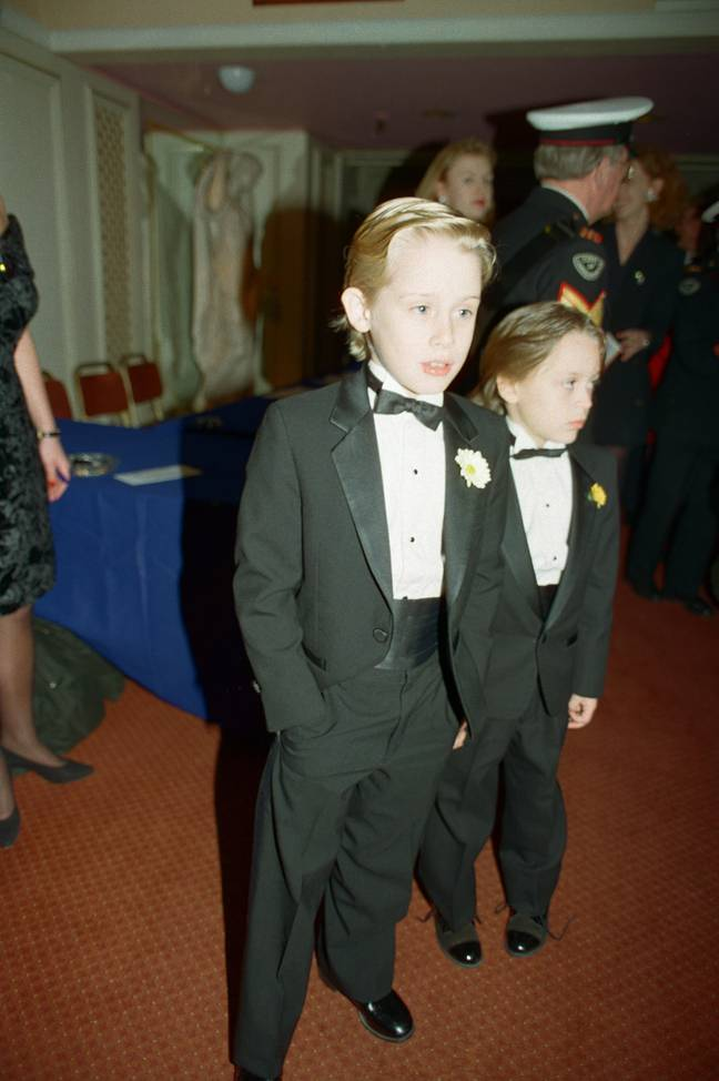 Macaulay Culkin and younger brother Kieran in 1991. Credit: Alamy