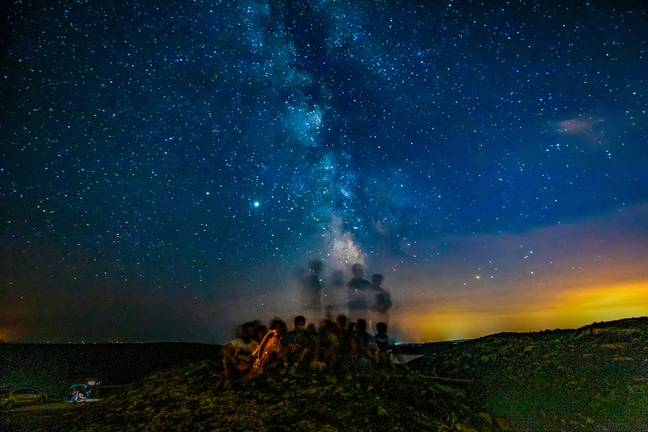 The meteor shower of Perseids.  Credit: PA