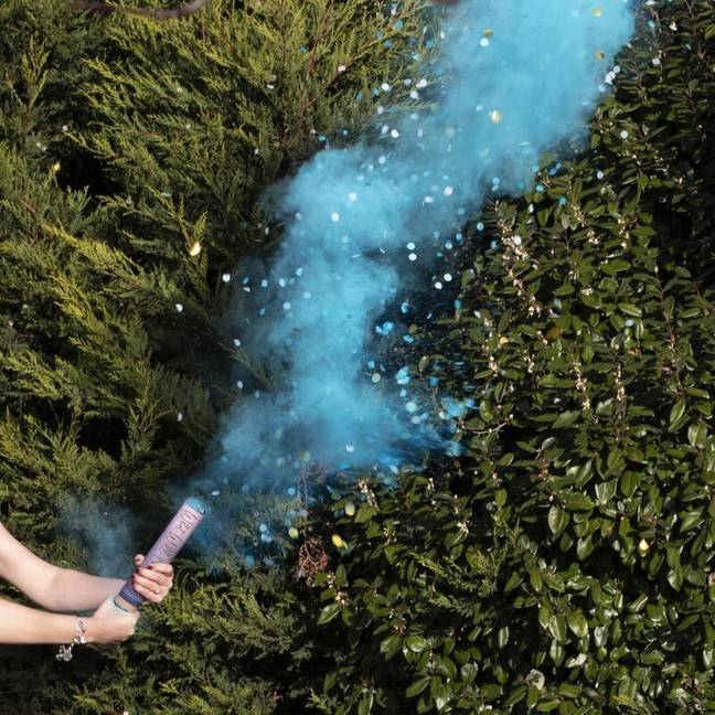 Gender reveal smoke cannons can be bought for less than £5. Credit: Creative Commons