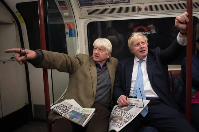 Stanley Johnson and Boris