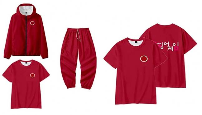 Squid Game red tracksuit on Amazon. (Credit: Amazon)