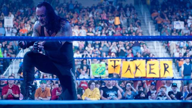 The Undertaker broke character to help promote rapper, Bad Bunny's, tour. Credit: WWE