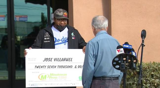 The 77-year-old was given $27,000 by a former student. Credit: Fox11