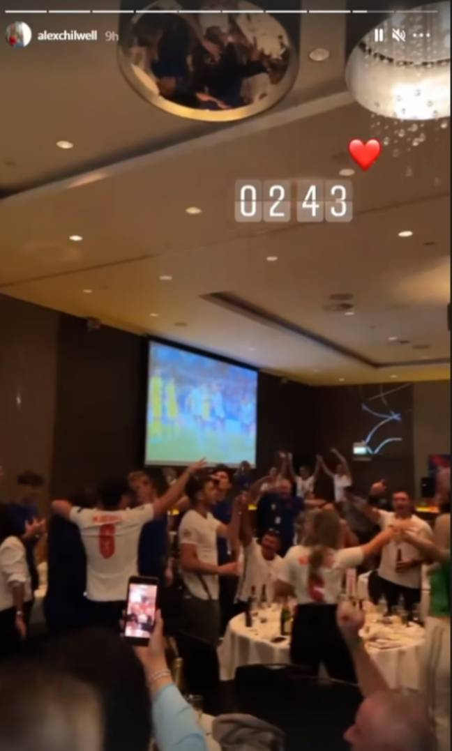 Ben Chilwell's sister Alex shared a time-stamped photo showing celebrations continuing into the early hours. Credit: Instagram/@alexchilwell