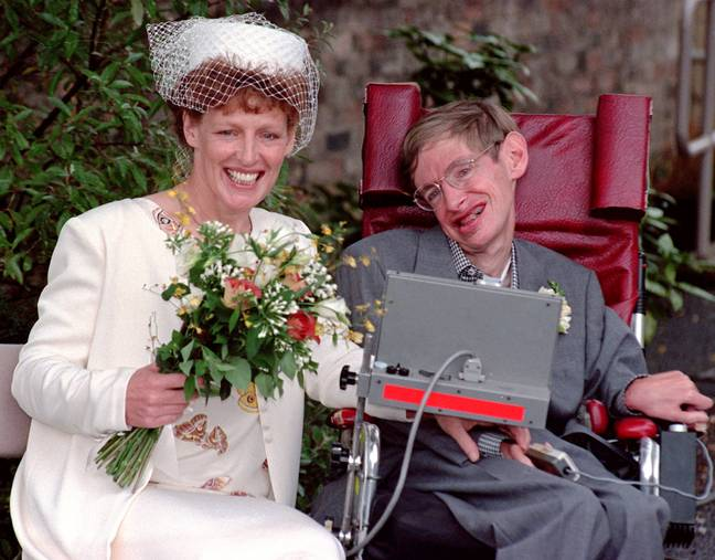 Stephen Hawking and Elaine Mason. Credit: PA
