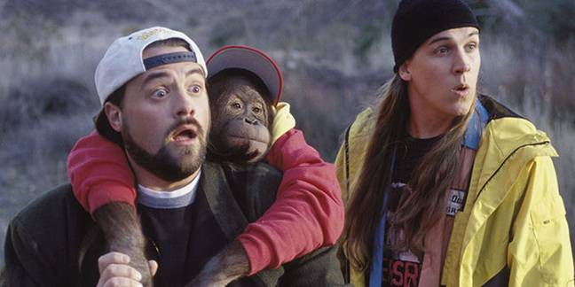 Jay and Silent Bob in 'Strike Back'. Credit: Miramax