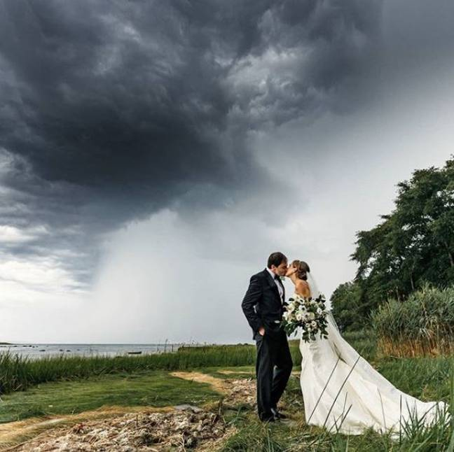 But, fortunately, they were able to finish their nuptials and tie the knot as planned. Credit: Aaron Sawitsky