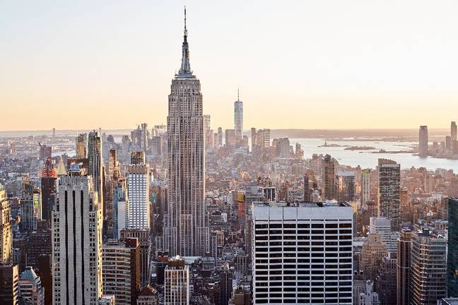 The Empire State Building has a total height of 0.4432km. Credit: PA