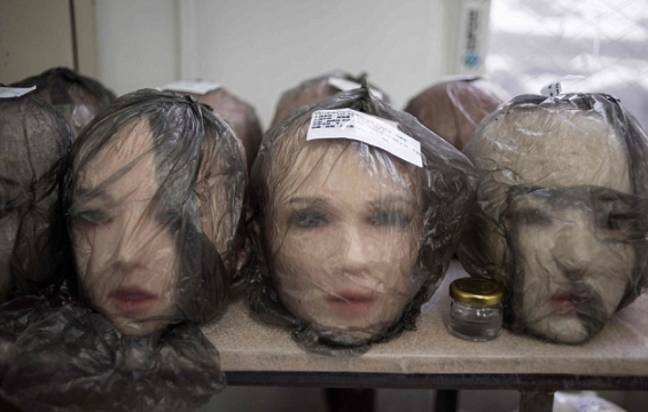 Like a scene from Ed Gein's house. Credit: AFP/Getty