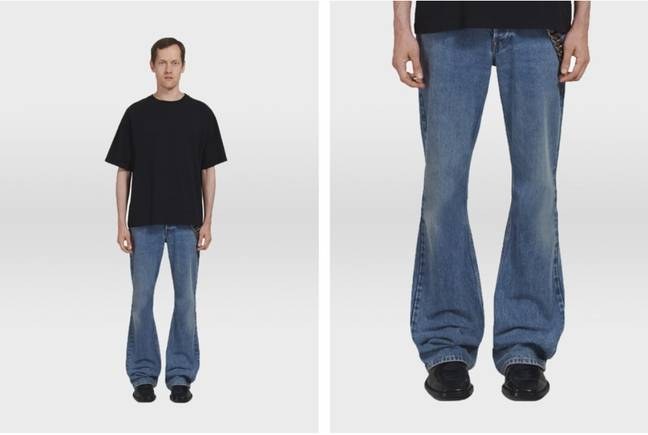 Fancy a pair of boot-cut jeans? They're back in, apparently. Credit: Balenciaga