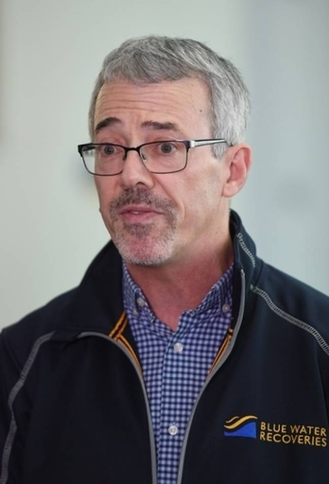 David Mearns, director of Blue Water Recoveries, who led a team on the search vessel. Credit: PA