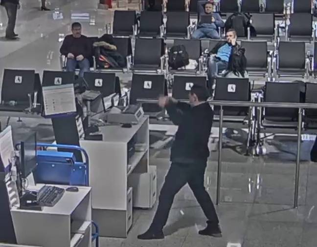 One passenger reacted pretty badly to missing his flight. Credit: East2West