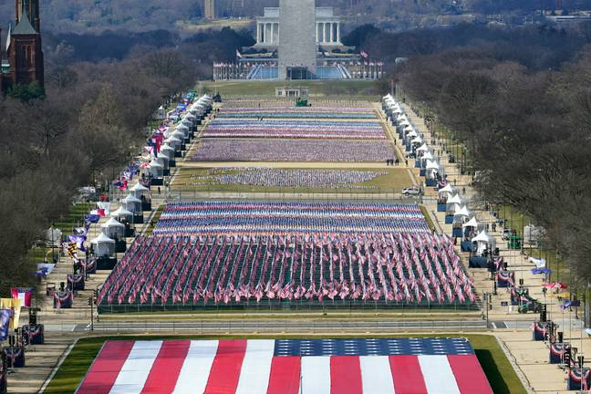 Preparation is underway for the inauguration. Credit: PA