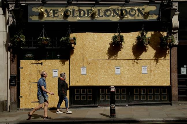 Ye Olde London pub in London, UK. Credit: PA