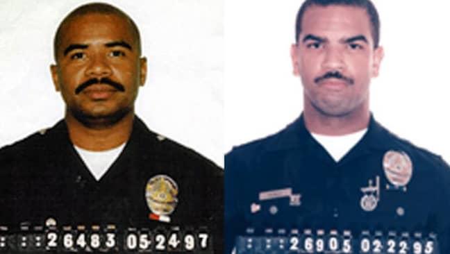 David Mack and Rafael Perez. Credit: LAPD