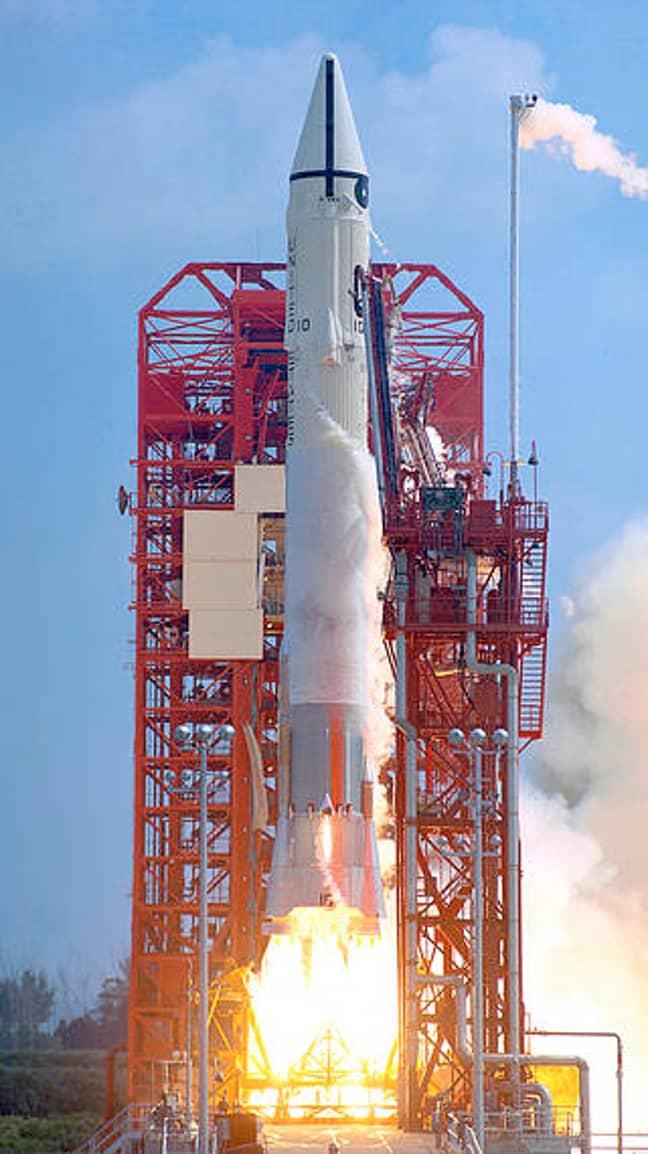 Centaur rocket in 1966. Credit: NASA