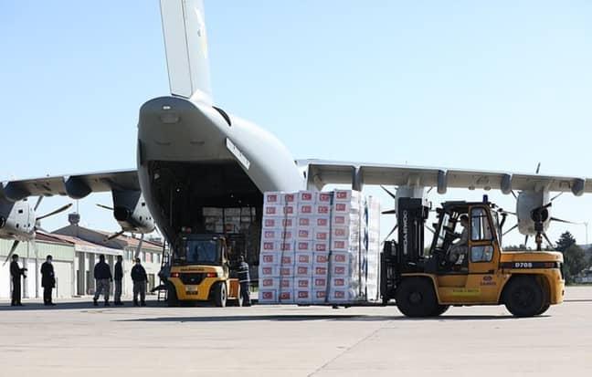 The supplies leaving Ankara. Credit: Anadolu Agency