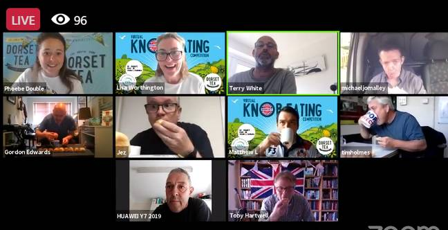 Eating knob remotely is so 2020. Credit: Facebook/Dorset Tea