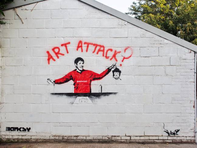 Could this be a Banksy? Credit: SWNS