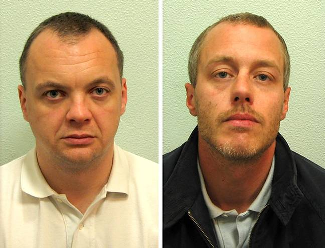 Gary Dobson (left) and David Norris were convicted of the racist murder of Stephen Lawrence. Credit: PA