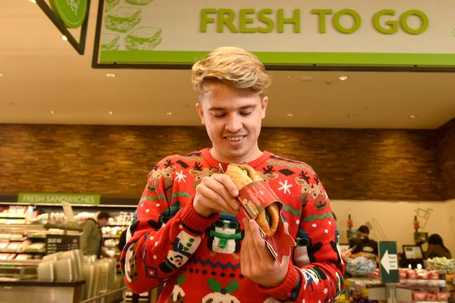 Morrisons has launched a festive Yorkshire pudding wrap. Credit: Morrisons