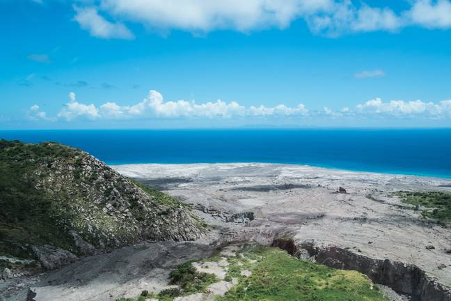 A pyroclastic flow in Montserrat near the Soufriere Hills, currently the most active volcano in the eastern Caribbean. Credit: PA