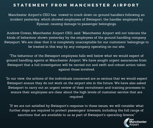 Credit: Manchester Airport/Twitter