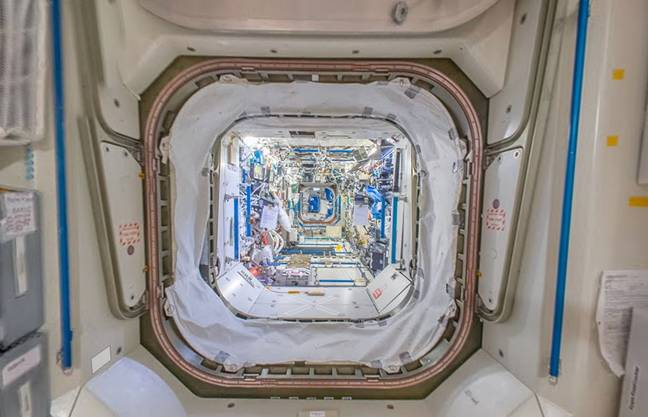 Google Maps Streetview inside the International Space Station ' Credit: Google Street View