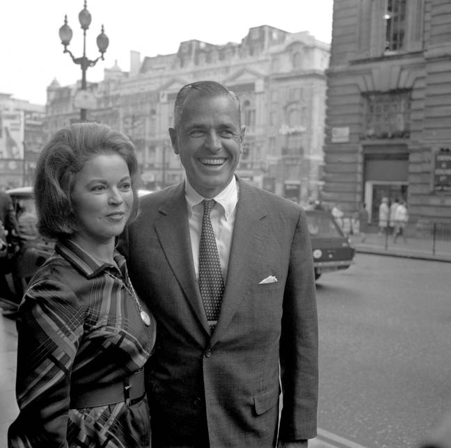 Shirley Temple with husband Charles Alden Black in London, 1968 (Credit: PA)