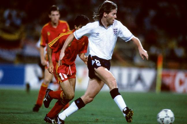 Footballer Chris Waddle in 1990. Credit: PA